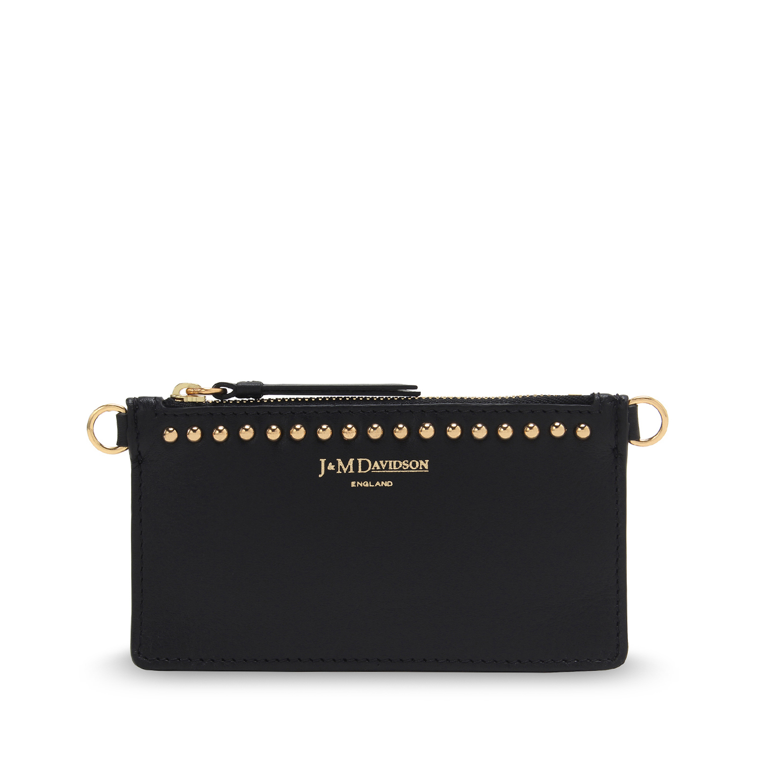 Coin & Card Pouch with Studs Black / ブラック