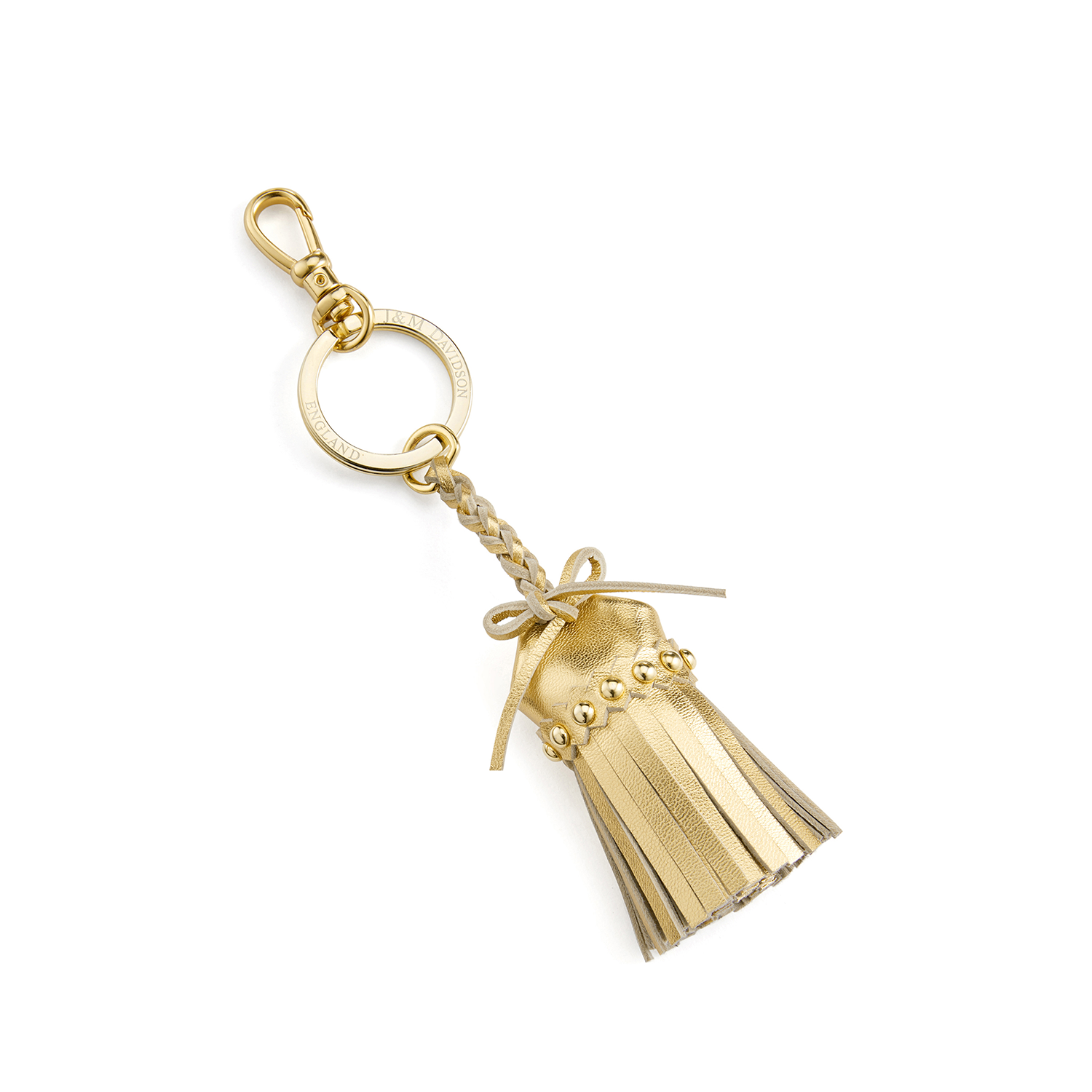 Tassel Keyring with Studs New Gold / メタリックカーフ