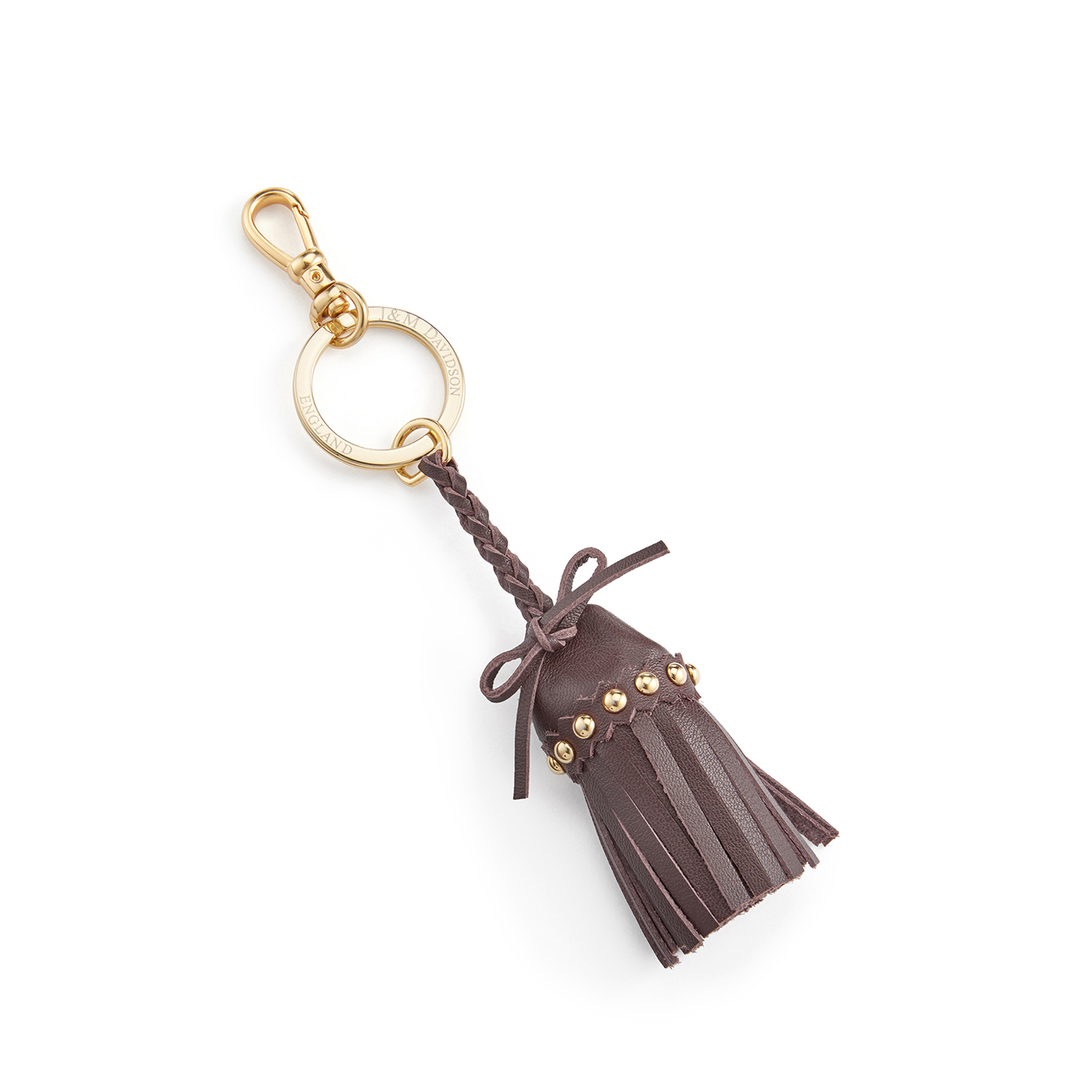Tassel Keyring with Studs Wine / カーフ