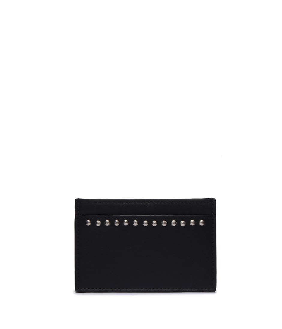 FLAT CREDIT CARD CASE WITH STUDS 詳細画像 BLACK 1