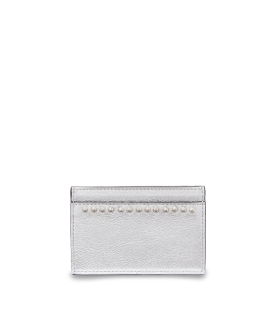 FLAT CREDIT CARD CASE WITH STUDS