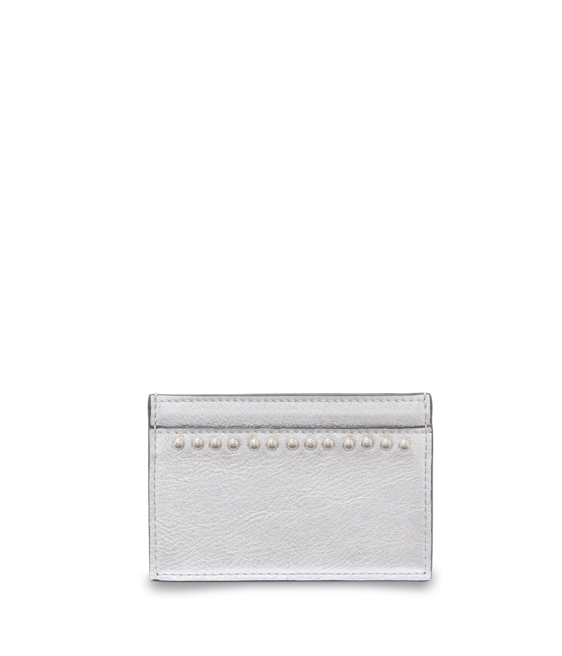 FLAT CREDIT CARD CASE WITH STUDS 詳細画像 SILVER 1