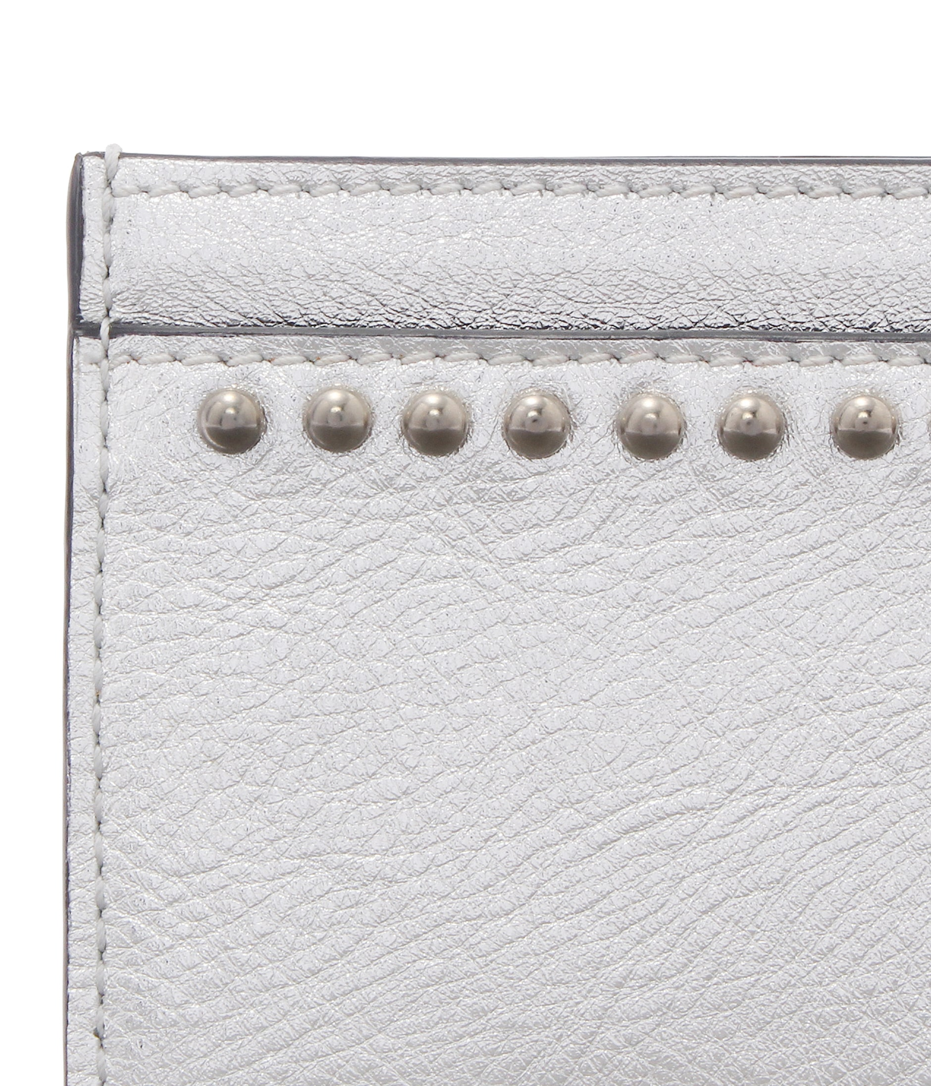 FLAT CREDIT CARD CASE WITH STUDS 詳細画像 SILVER 4