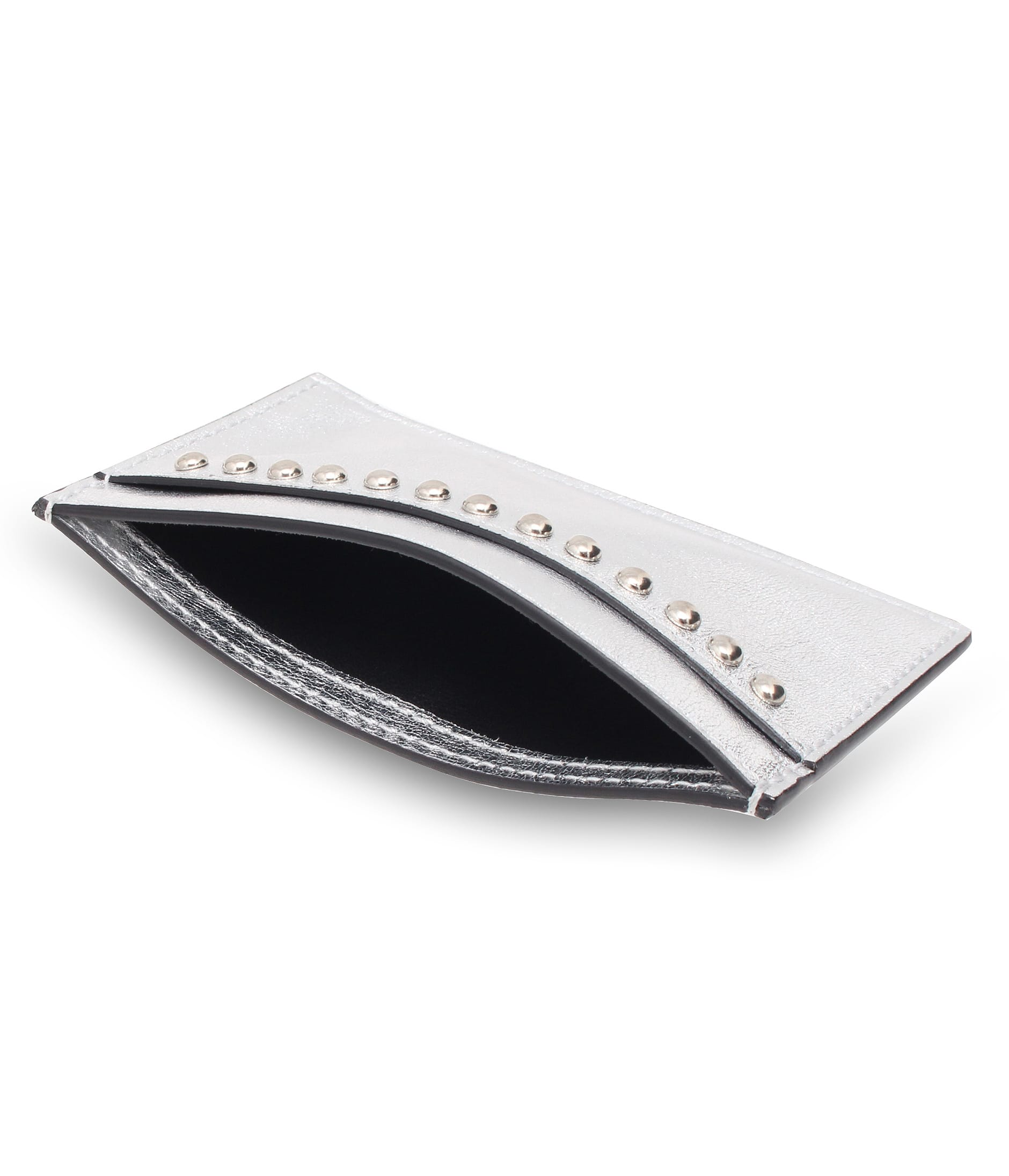 FLAT CREDIT CARD CASE WITH STUDS 詳細画像 SILVER 5