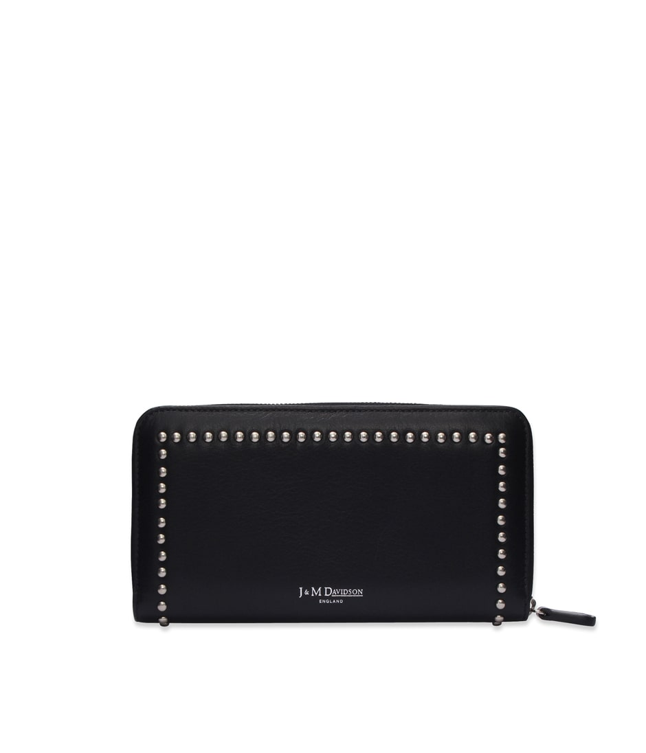 ELONGATED ZIP WALLET WITH STUDS 詳細画像 BLACK 1