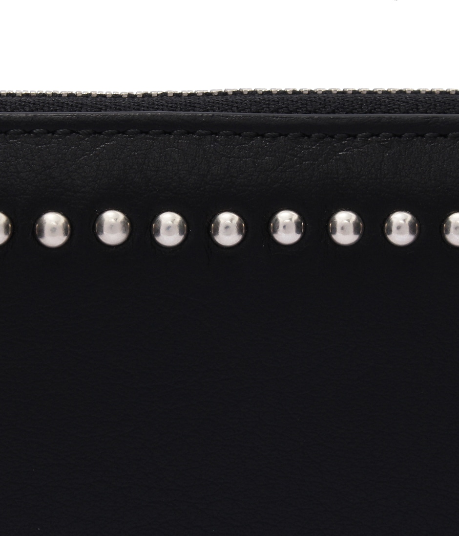 ELONGATED ZIP WALLET WITH STUDS 詳細画像 BLACK 3
