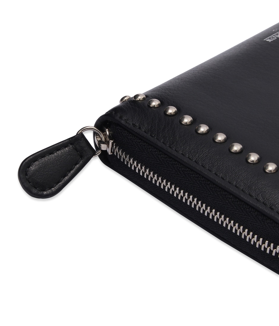 ELONGATED ZIP WALLET WITH STUDS 詳細画像 BLACK 4