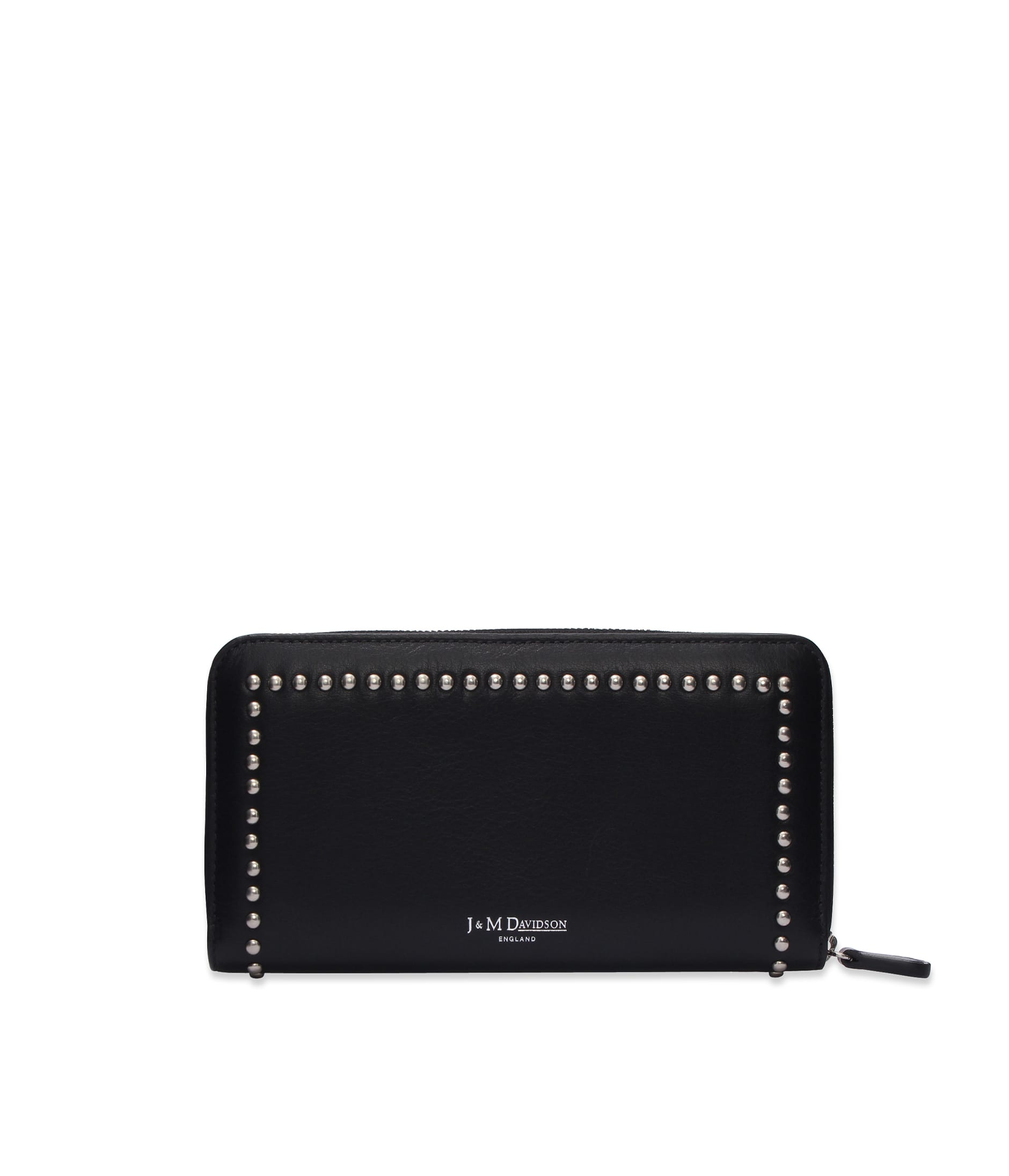 ELONGATED ZIP WALLET WITH STUDS 詳細画像 BLACK 2