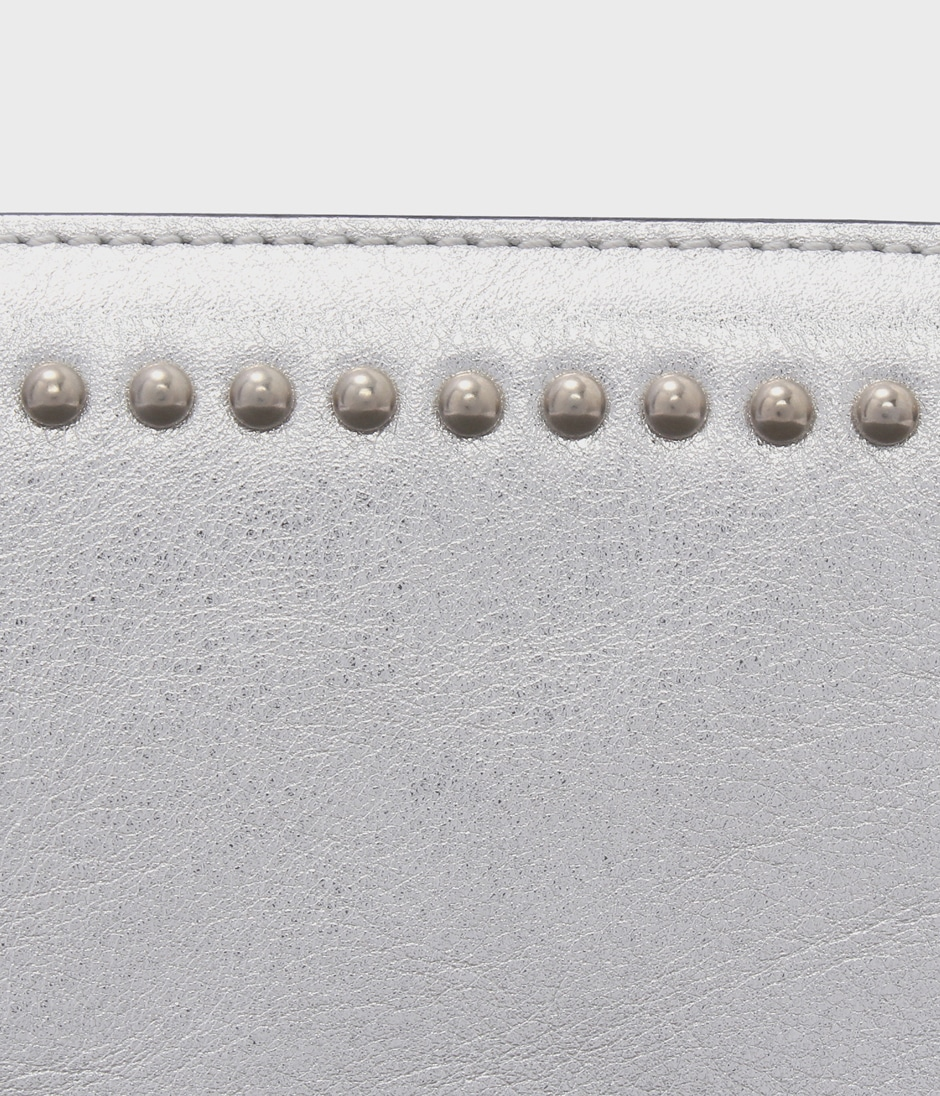 ELONGATED ZIP WALLET WITH STUDS 詳細画像 SILVER 4