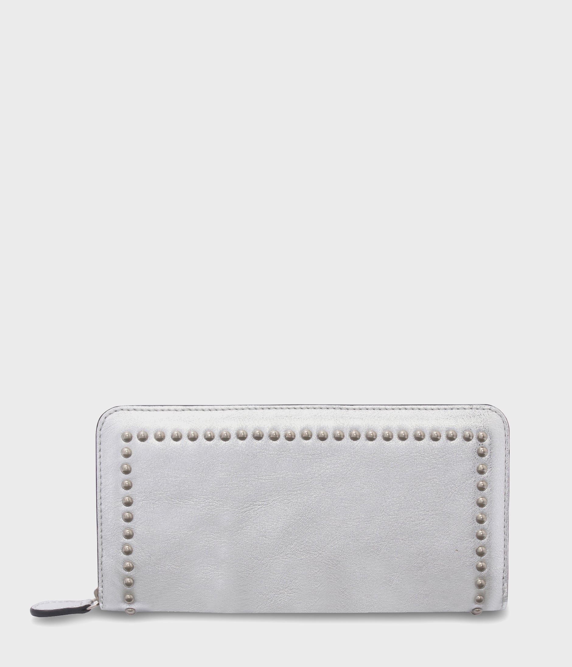 ELONGATED ZIP WALLET WITH STUDS 詳細画像 SILVER 1