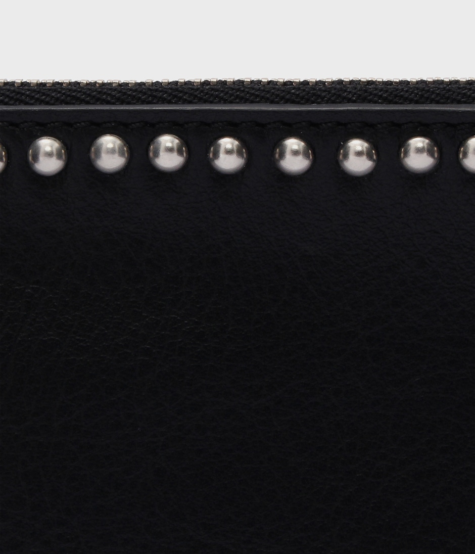 TRAVEL WALLET WITH STUDS 詳細画像 BLACK 6