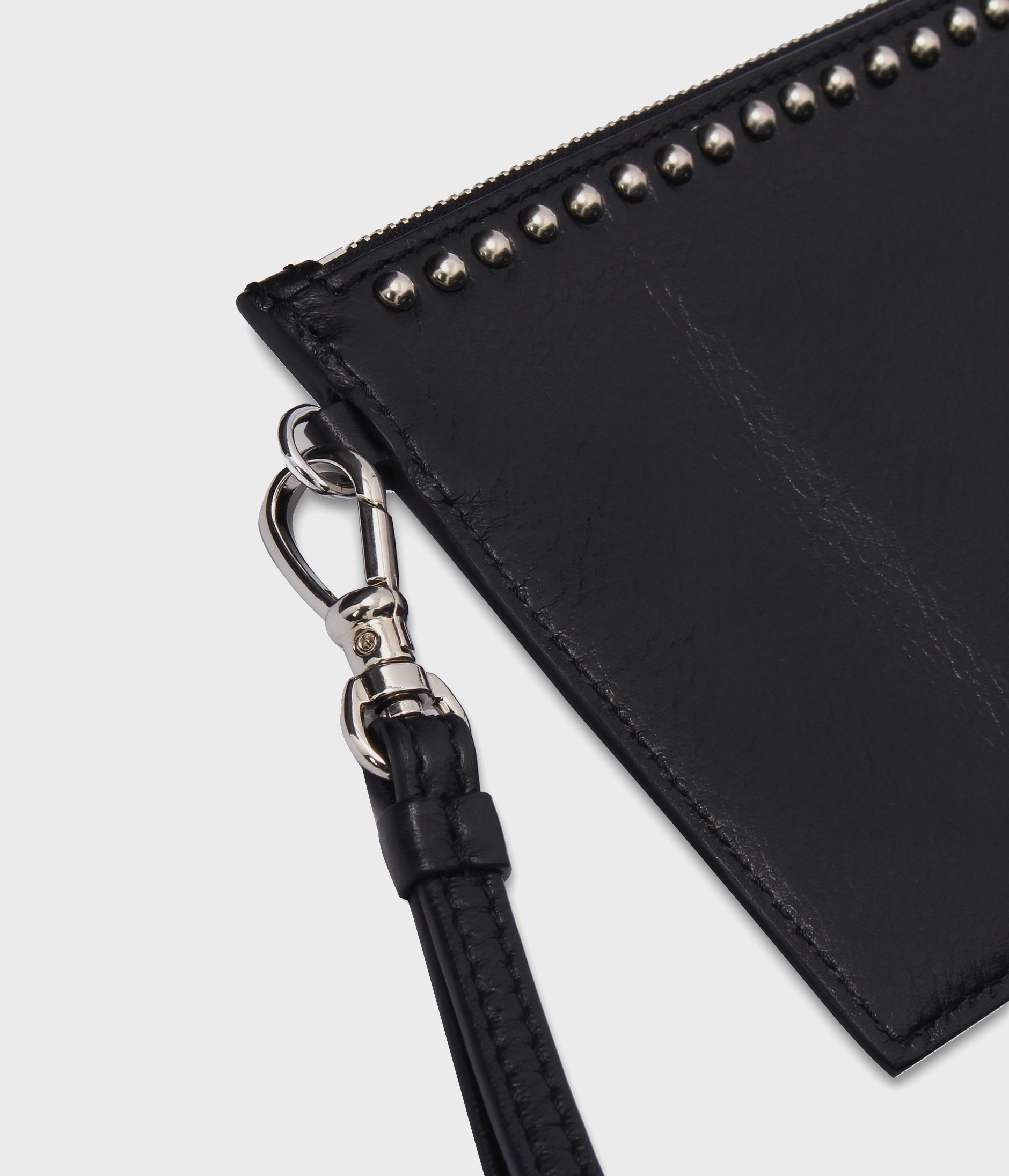 TRAVEL WALLET WITH STUDS 詳細画像 BLACK 7
