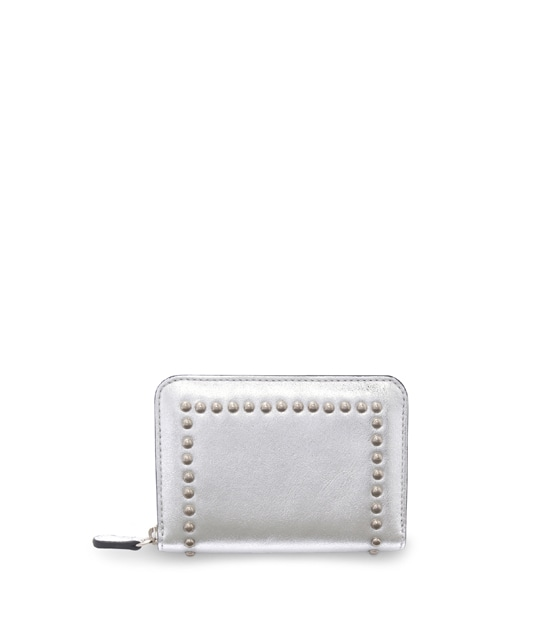 SMALL ZIP PURSE WITH STUDS