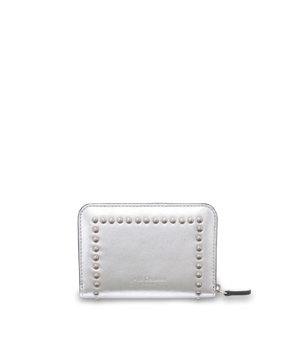 SMALL ZIP PURSE WITH STUDS 詳細画像 SILVER 2