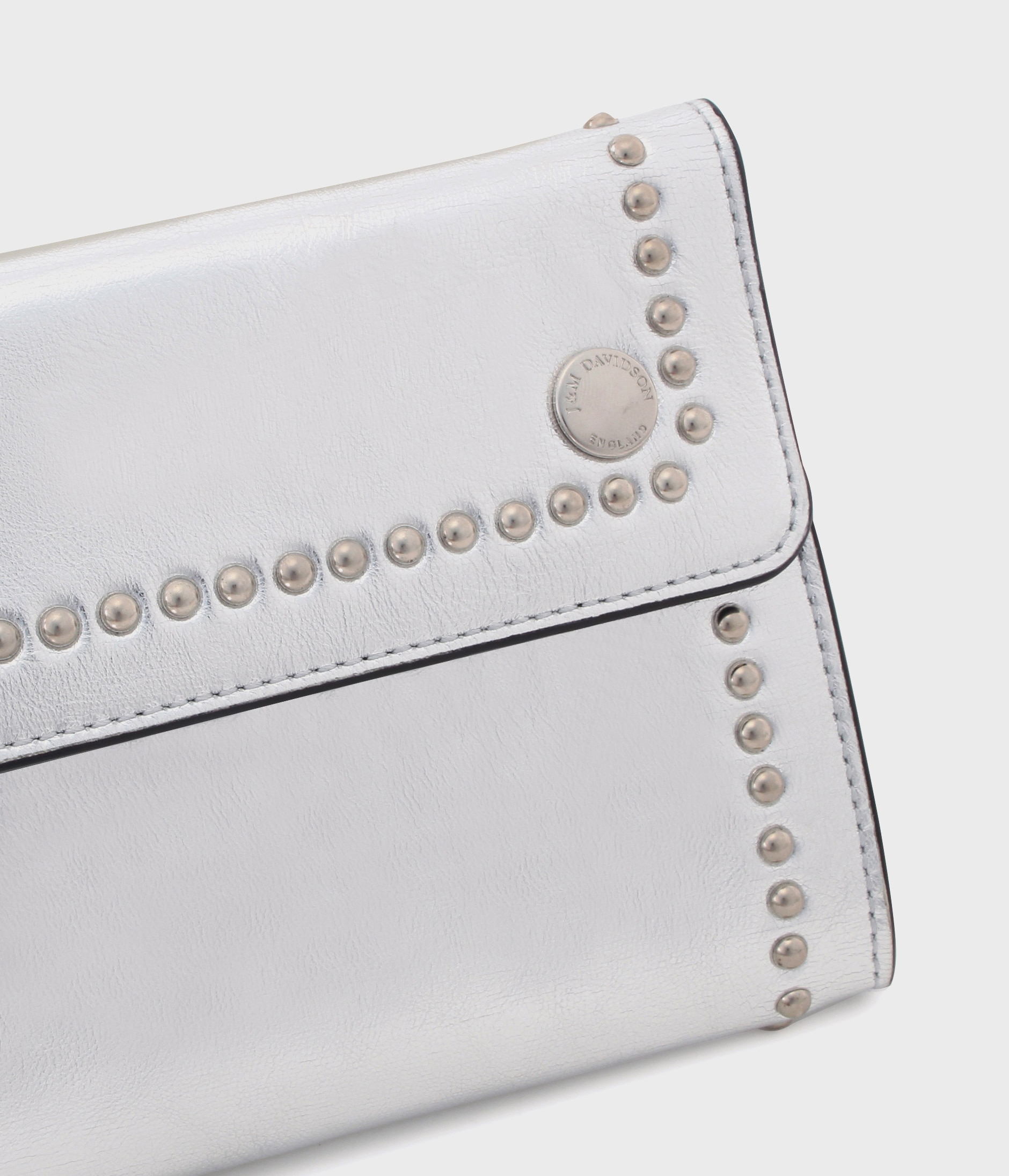 TRAVEL POUCH WITH STUDS 詳細画像 SILVER 3
