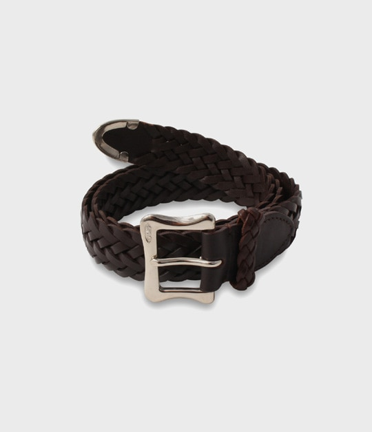 ENVELOPE BUCKLE TIP END PLAITED BELT 30MM