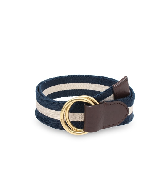 WEBBING DOUBLE RING 40MM NAVY