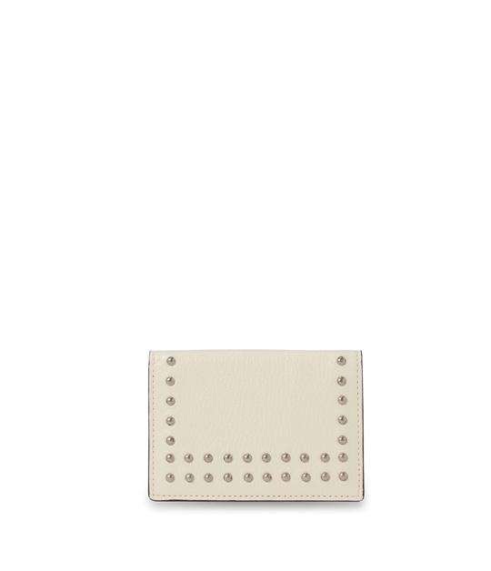 ヴィジット カード ホルダー ウィズ スタッズ W.WHITE