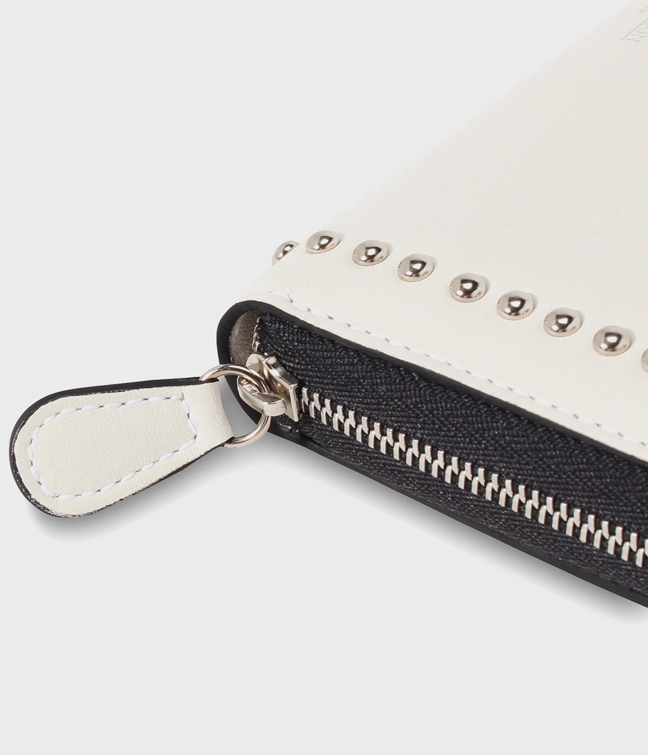 ELONGATED ZIP WALLET WITH STUDS 詳細画像 NEW WHITE 5