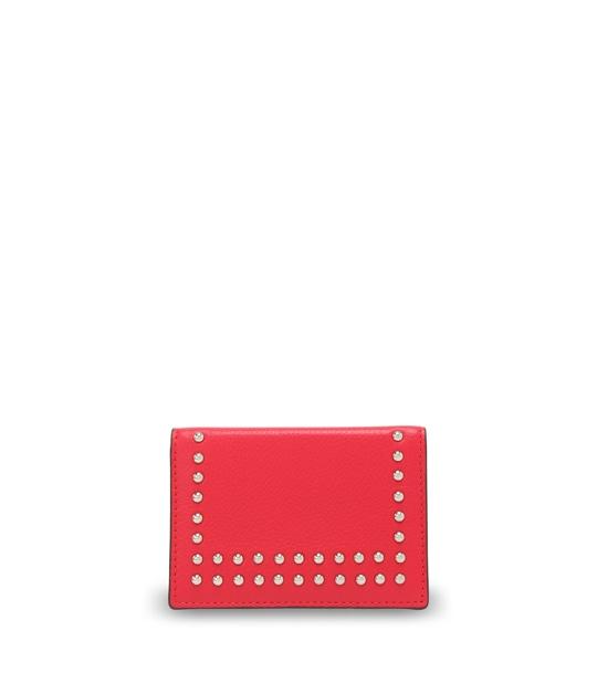 ヴィジット カード ホルダー ウィズ スタッズ CHERRY RED
