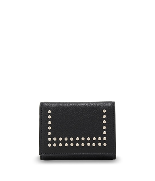 SMALL FOLDED WALLET WITH STUDS