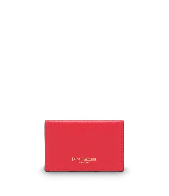 プレーン ビジネス カードケース CHERRY RED