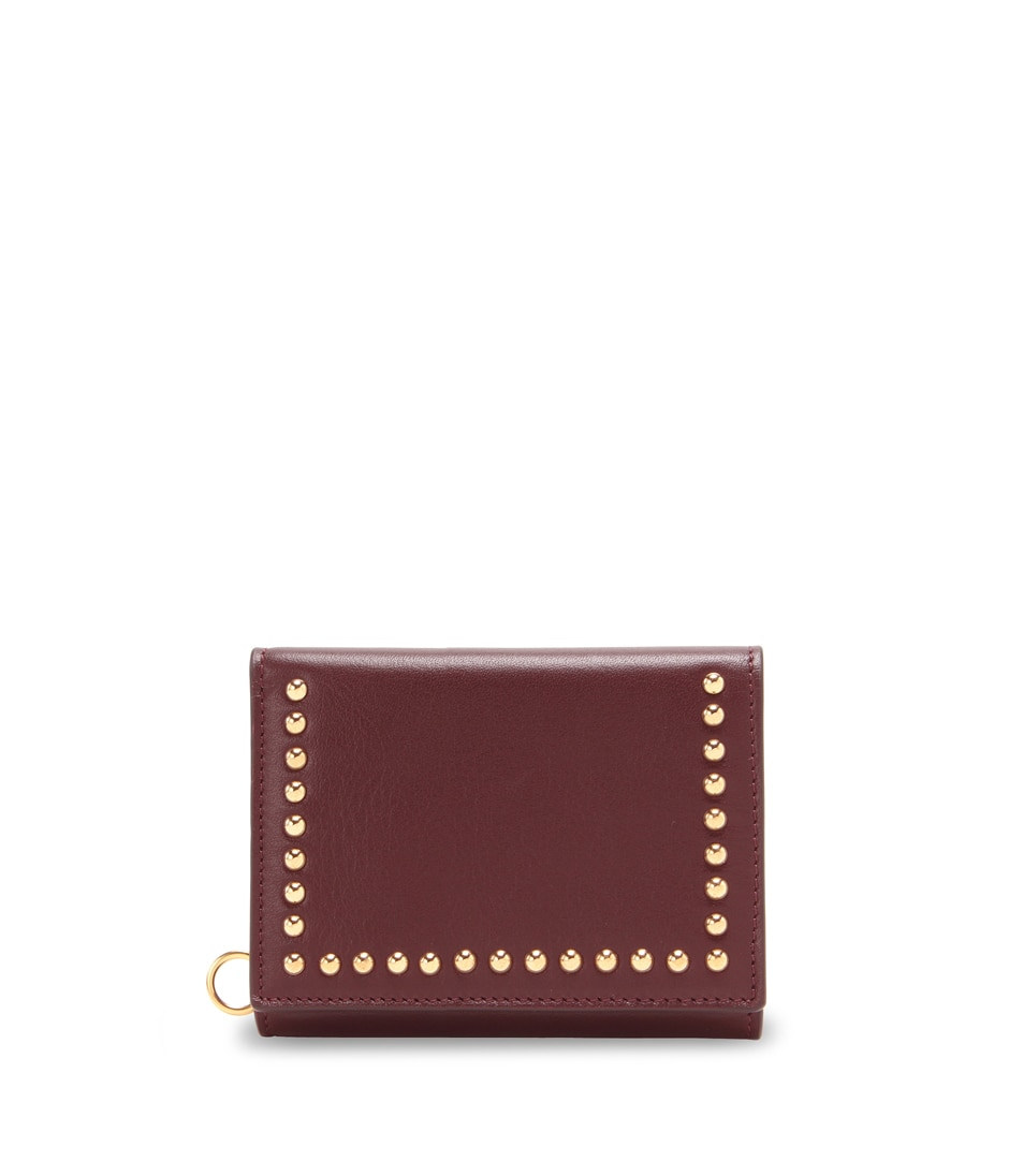 FOLDED WALLET WITH STUDS 詳細画像 WINE 1