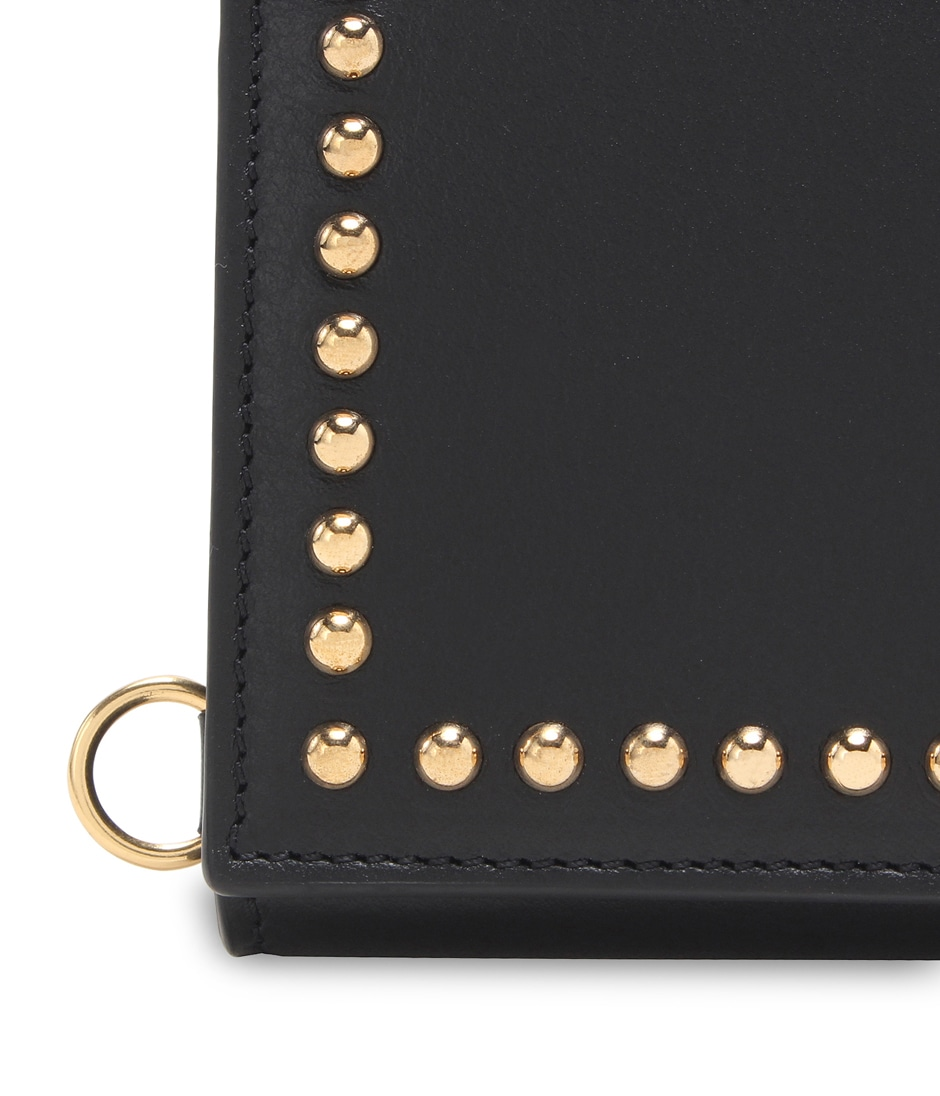 FOLDED WALLET WITH STUDS 詳細画像 BLACK 8