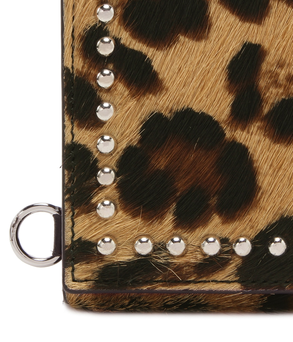 FOLDED WALLET WITH STUDS 詳細画像 LEOPARD 7