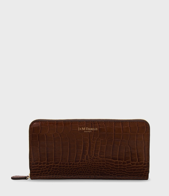 ELONGATED ZIP WALLET