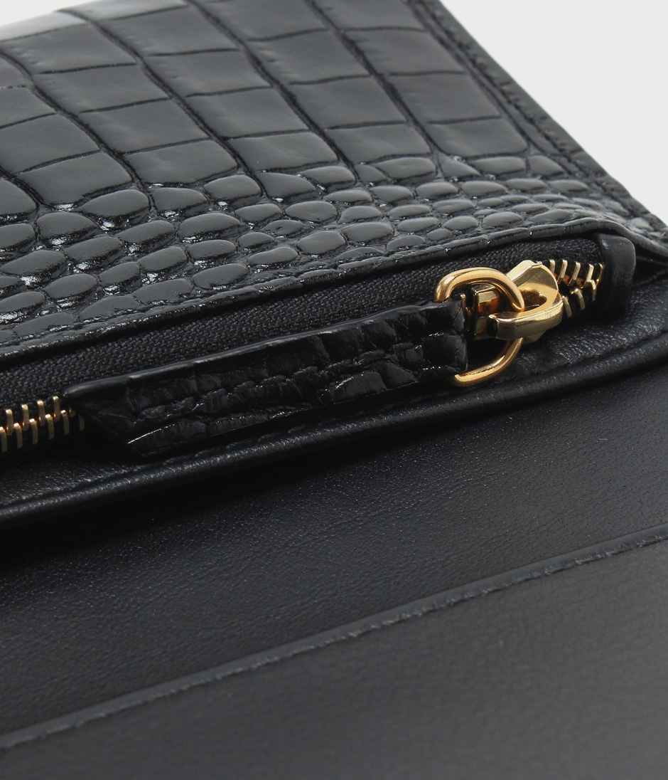 PLAIN FLAP WALLET 詳細画像 BLACK 5