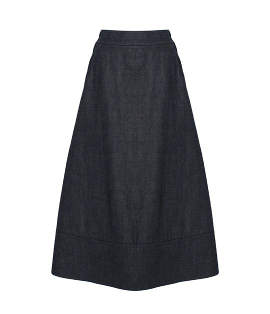 ウィロー スカート DARK BLUE