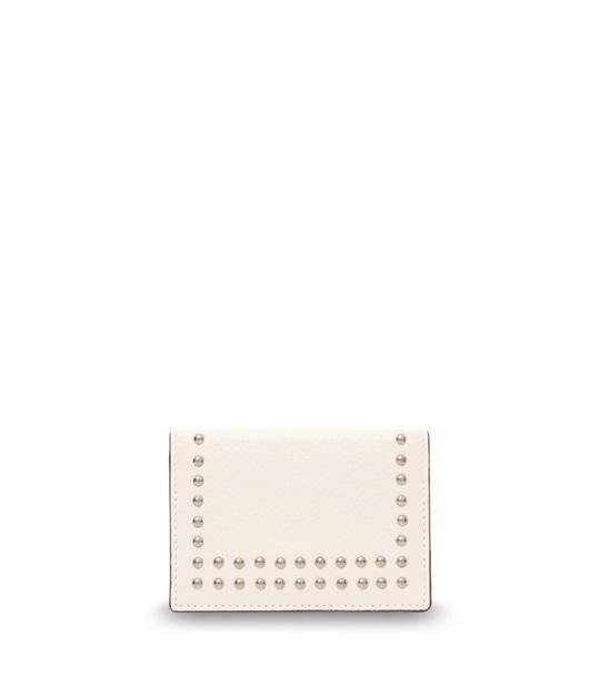 ヴィジット カード ホルダー ウィズ スタッズ NEW WHITE