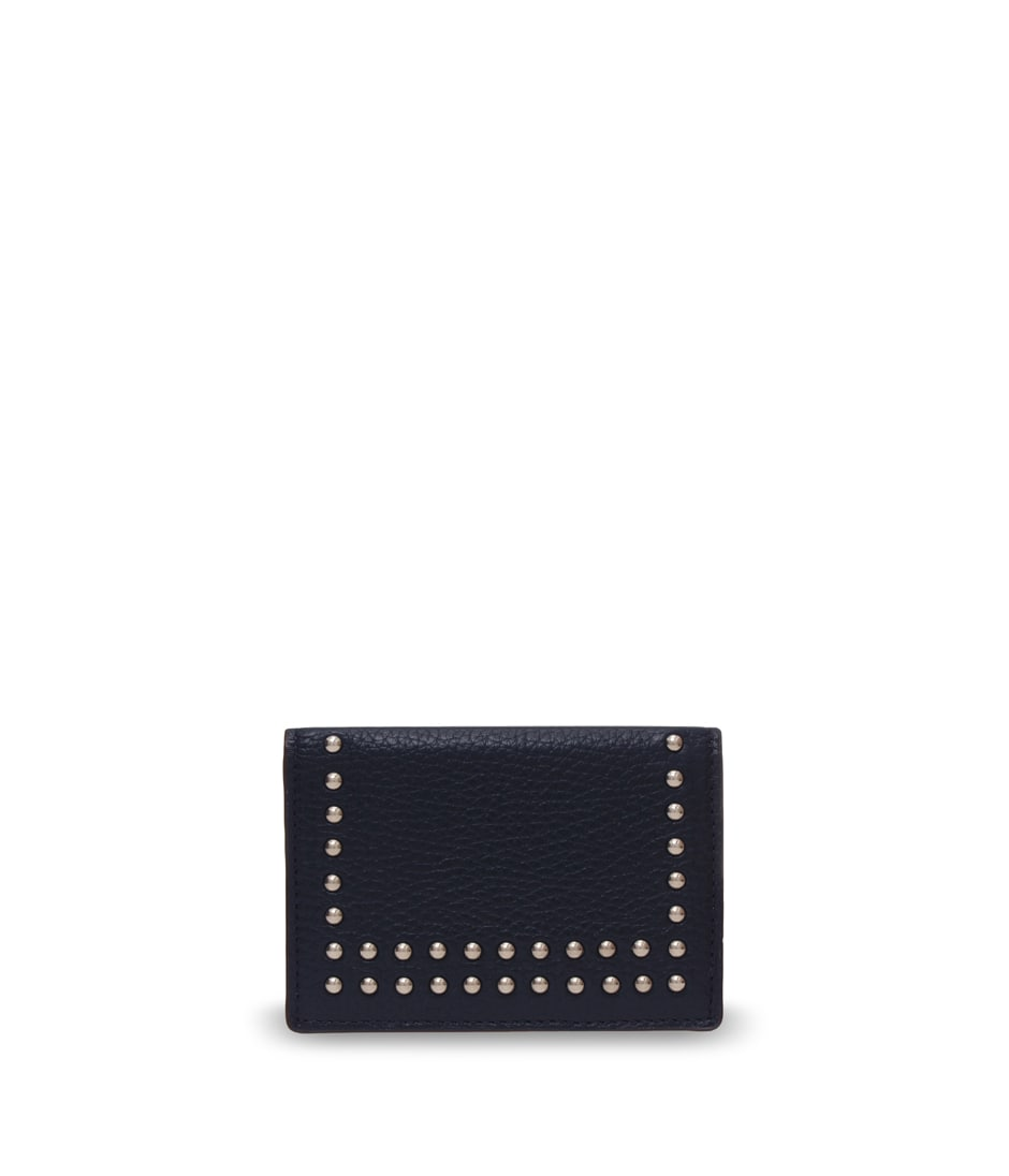 VISIT CARD HOLDER WITH STUDS 詳細画像 NEW NAVY 1
