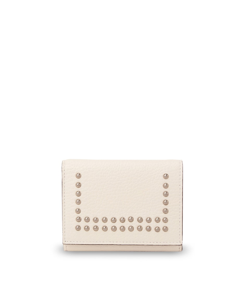 SMALL FOLDED WALLET WITH STUDS 詳細画像 NEW WHITE 1