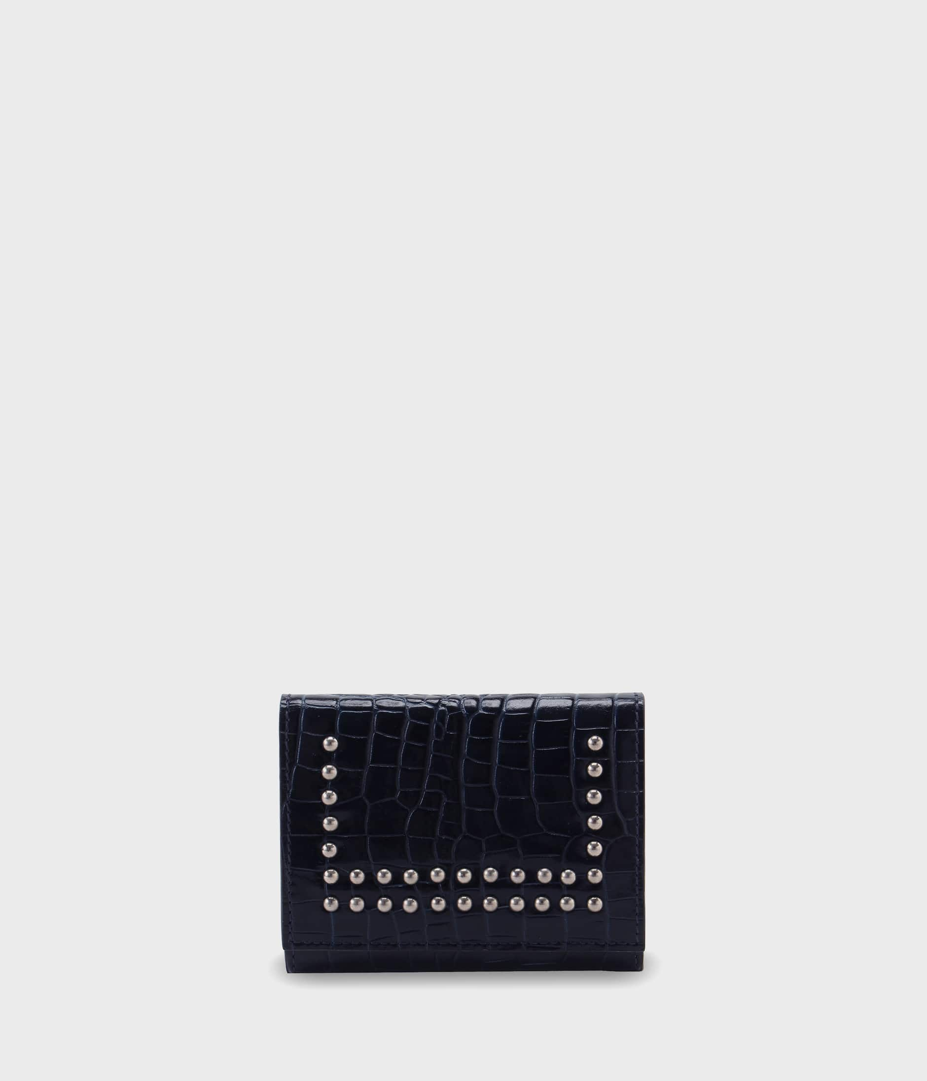 SMALL FOLDED WALLET WITH STUDS 詳細画像 NAVY 1