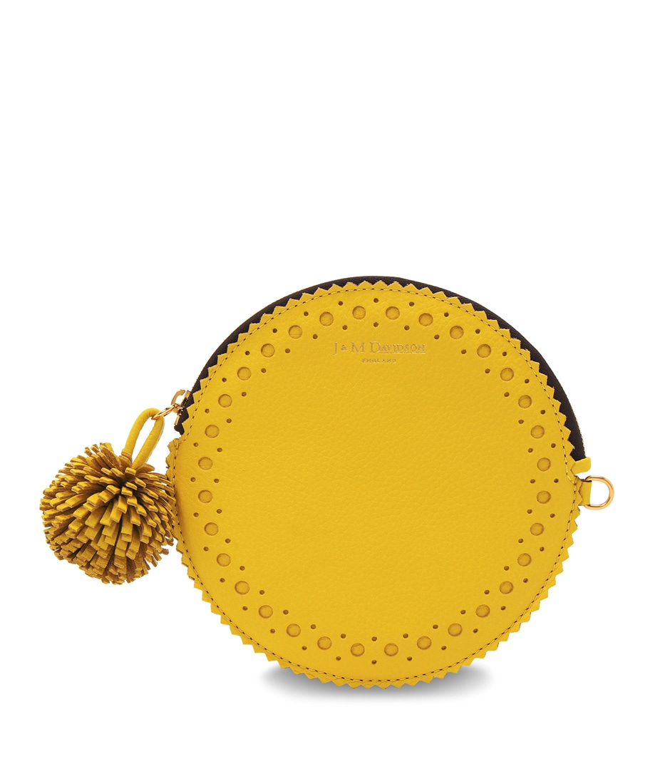 CIRCLE PURSE WITH POMPOM 詳細画像 ACACIA YELLOW 1