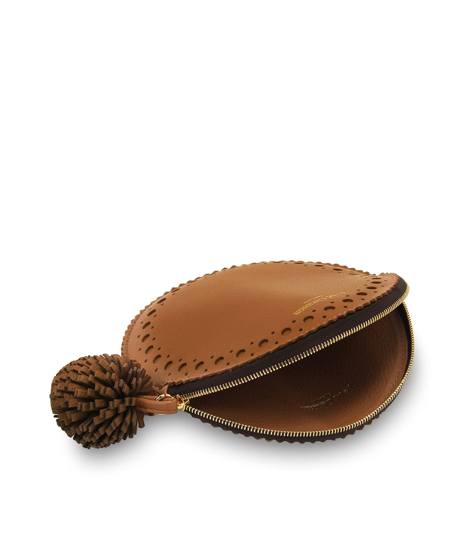CIRCLE PURSE WITH POMPOM 詳細画像 MOROCCAN BROWN 3