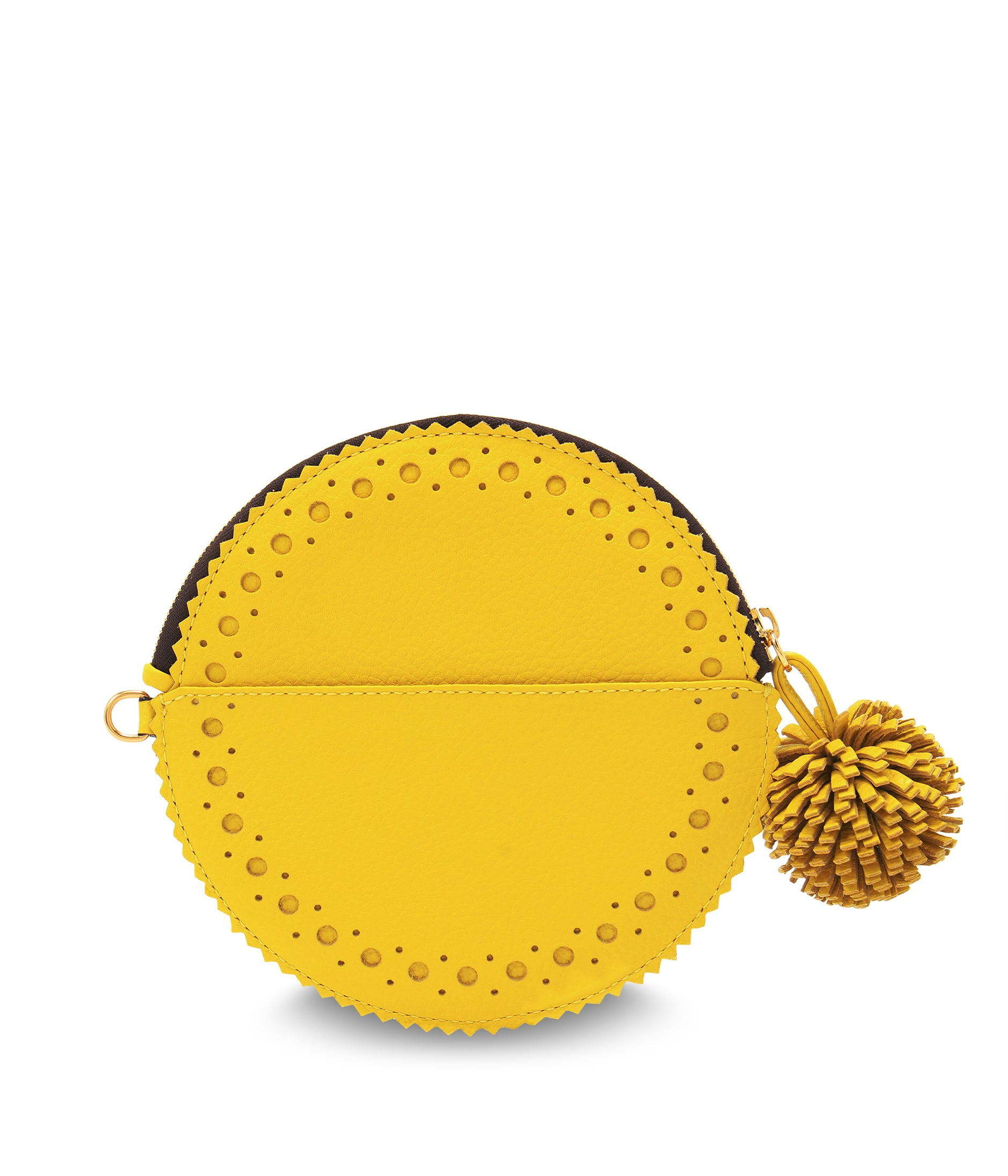 CIRCLE PURSE WITH POMPOM 詳細画像 ACACIA YELLOW 2