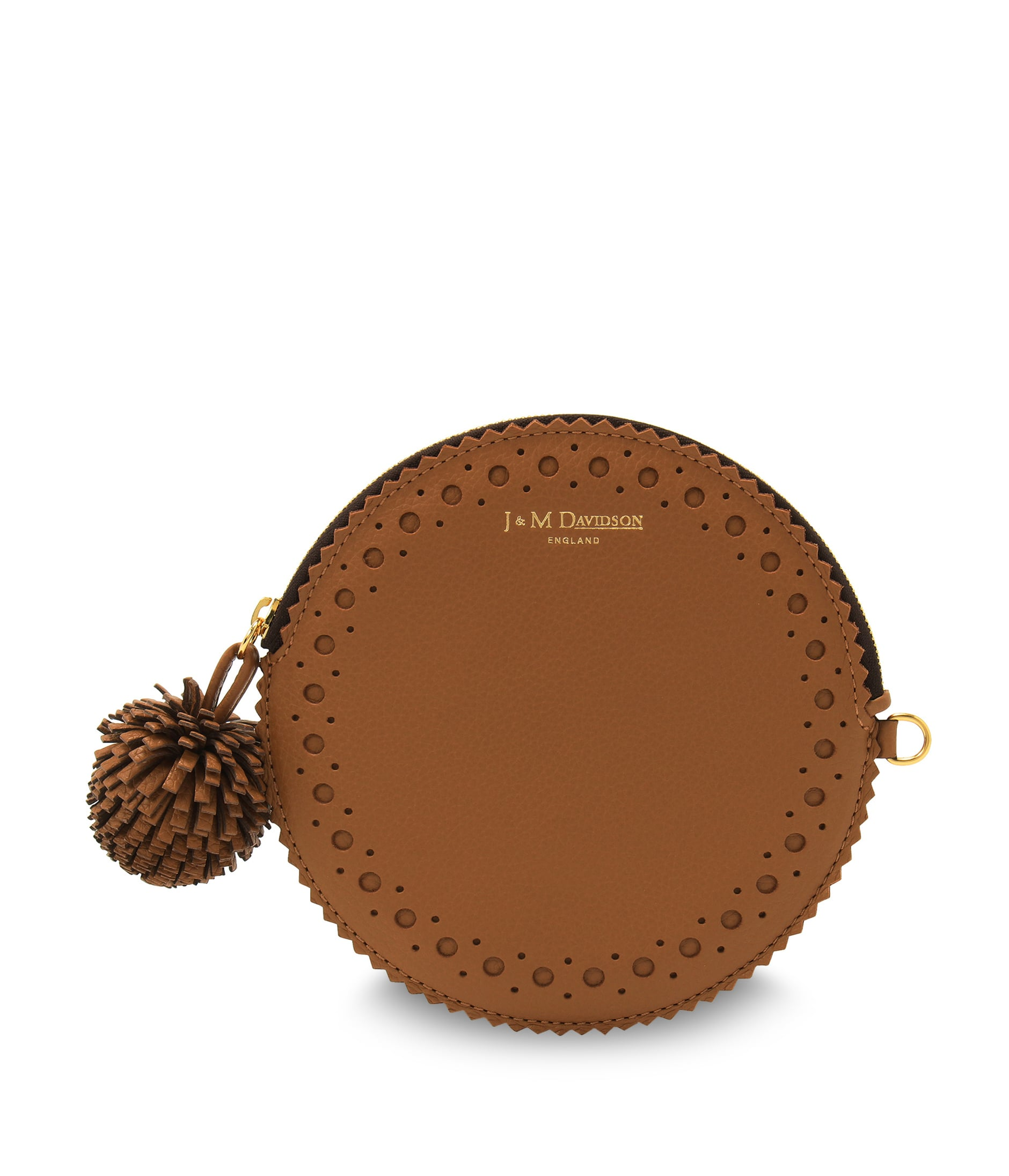 CIRCLE PURSE WITH POMPOM 詳細画像 MOROCCAN BROWN 1