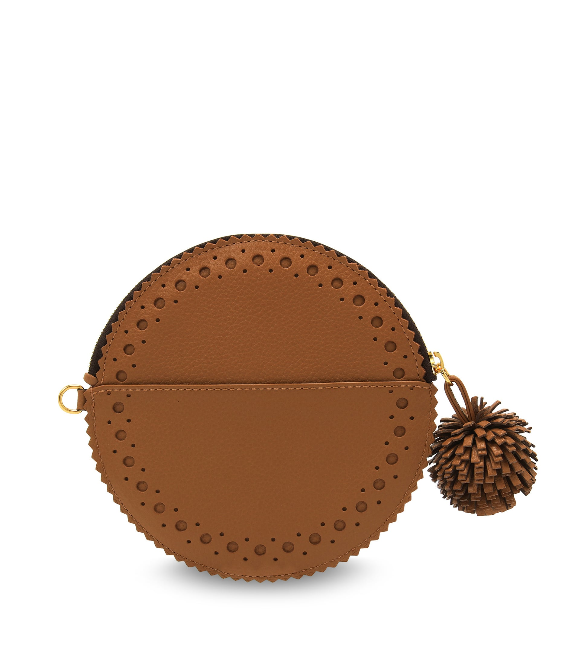 CIRCLE PURSE WITH POMPOM 詳細画像 MOROCCAN BROWN 2