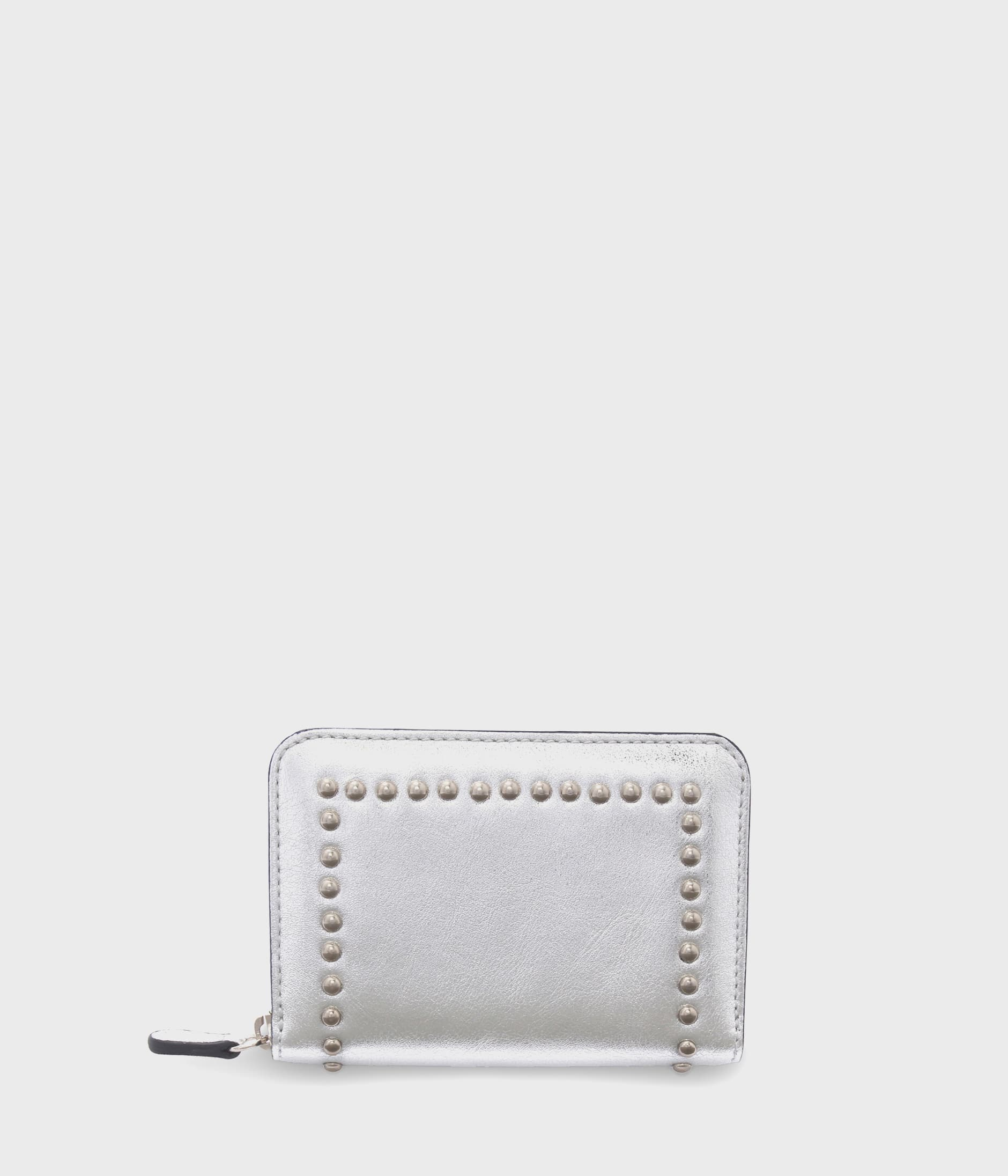 SMALL ZIP PURSE WITH STUDS 詳細画像 SILVER 1