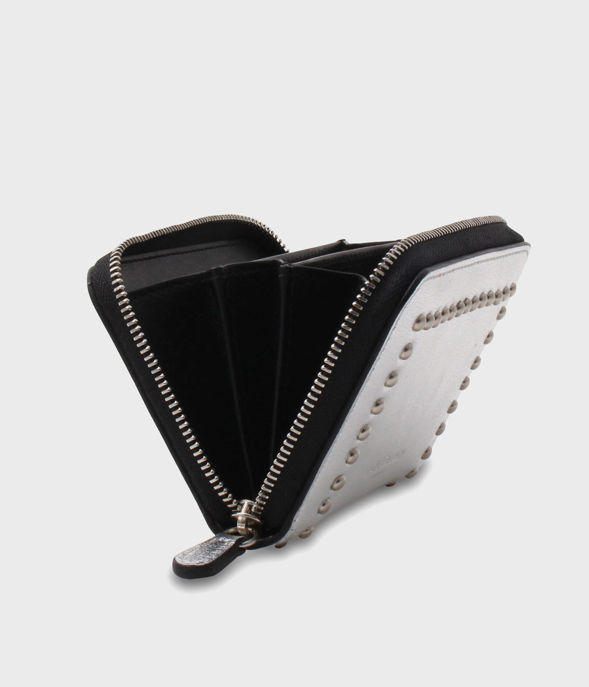 SMALL ZIP PURSE WITH STUDS 詳細画像 SILVER 6