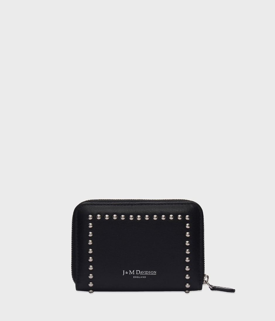 SMALL ZIP PURSE WITH STUDS 詳細画像 BLACK 2