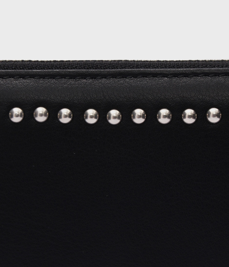 SMALL ZIP PURSE WITH STUDS 詳細画像 BLACK 4