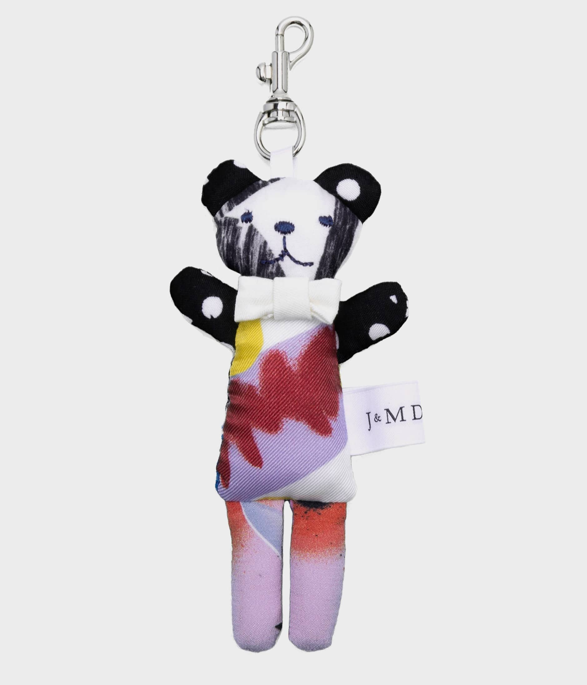 PATCHWORK TEDDY KEYRING 詳細画像 FLORAL WHITE 2