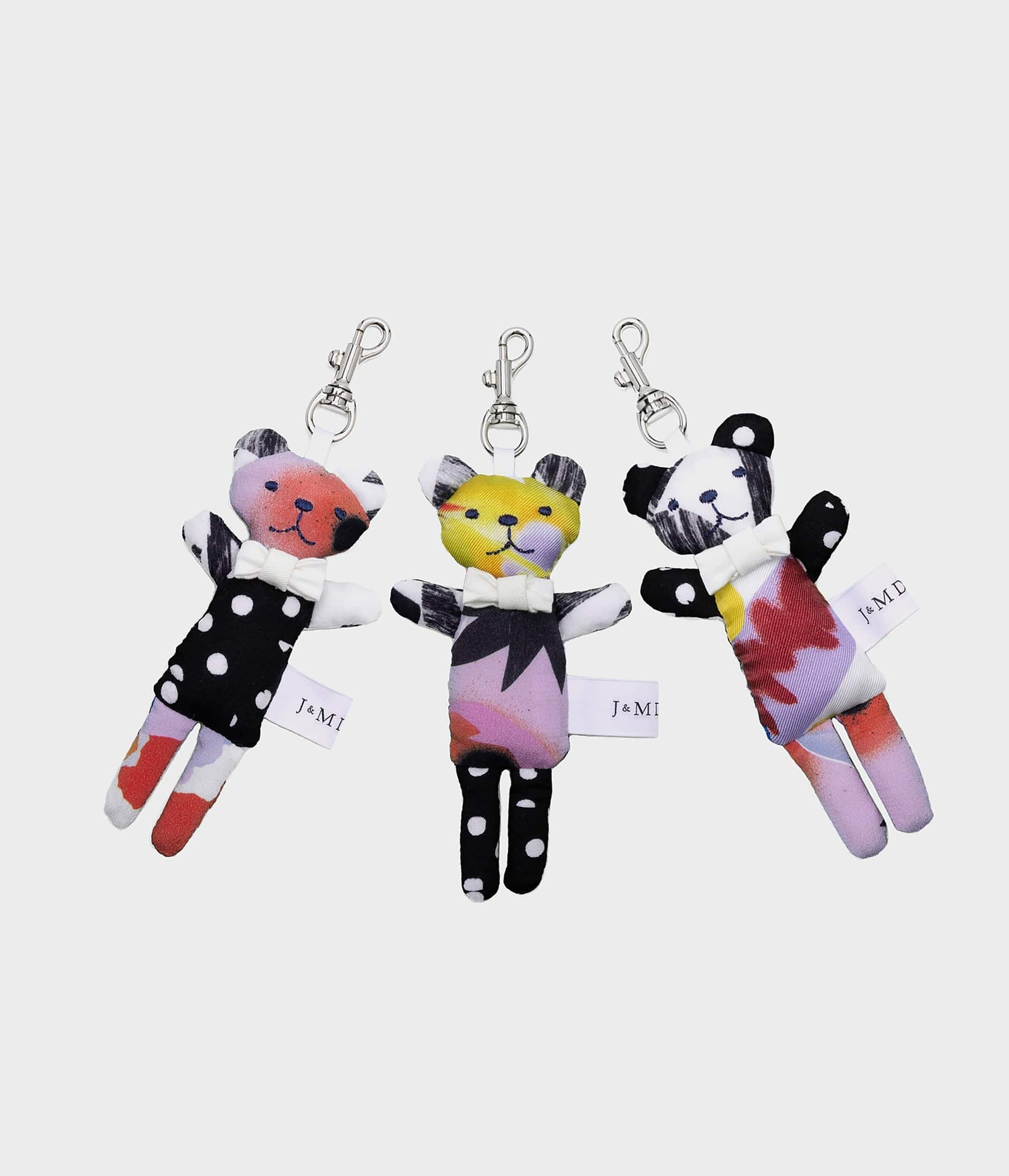 PATCHWORK TEDDY KEYRING 詳細画像 FLORAL WHITE 4