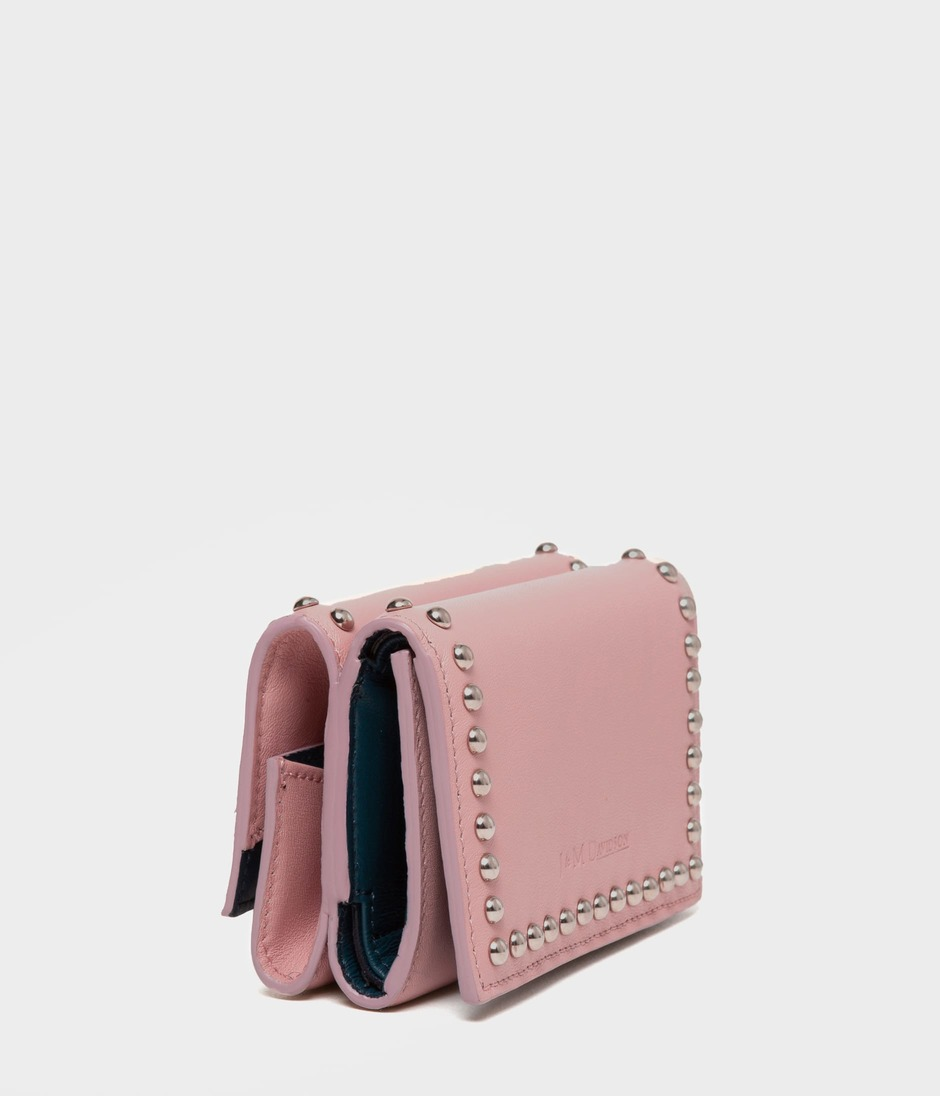 FOLD WALLET WITH STUDS 詳細画像 BLUSH 2