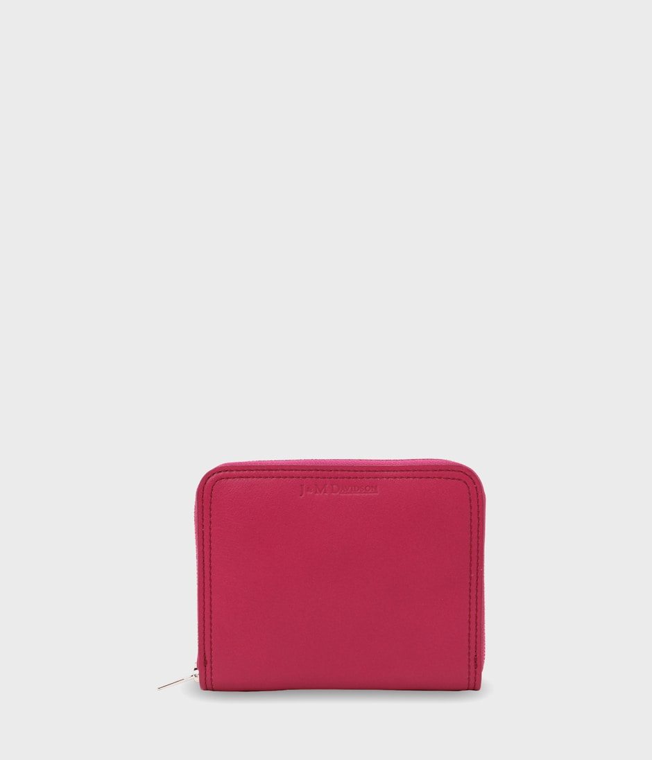 SMALL ZIP AROUND PURSE 詳細画像 RASPBERRY 1
