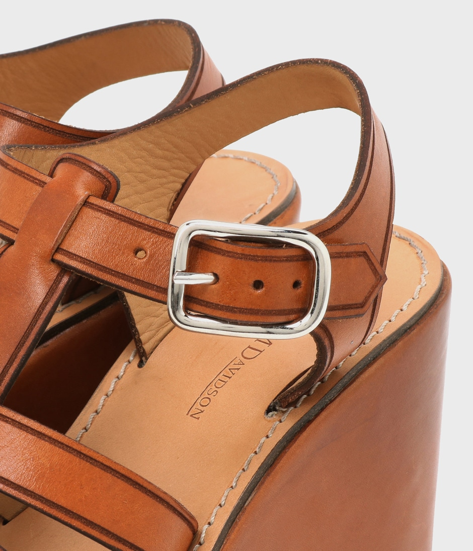LEATHER JELLY WEDGE 詳細画像 TAN 3